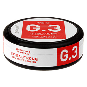 General G.3 Slim White Extra Strong Pussinuuska